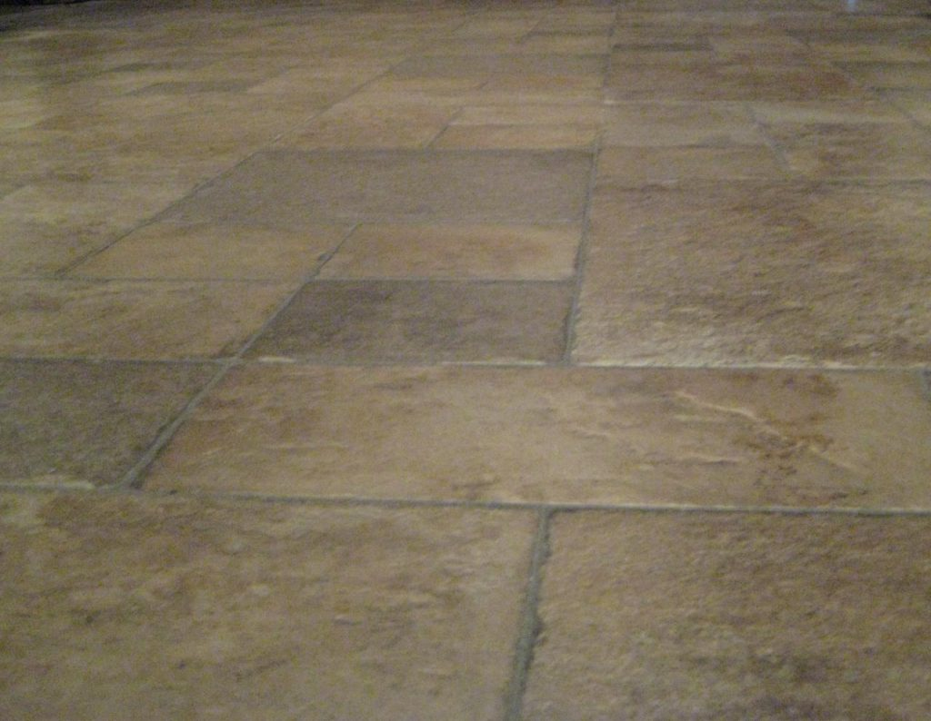 stone floor with stone effect
